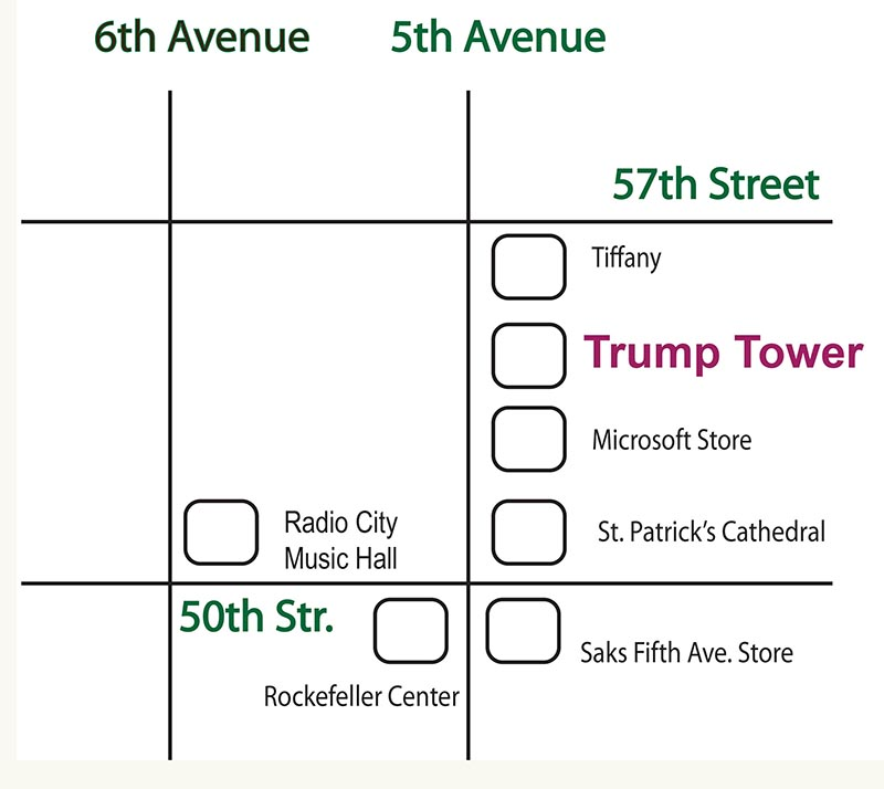 New York City For Physicists - Trump towers in the us map